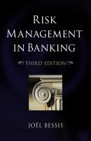 Risk Management in Banking - Joel  Bessis