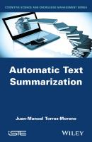 Automatic Text Summarization - Juan-Manuel  Torres-Moreno