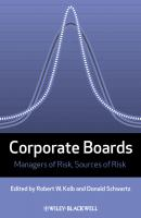 Corporate Boards. Managers of Risk, Sources of Risk - Schwartz Donald