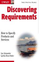 Discovering Requirements. How to Specify Products and Services - Alexander Ian F.