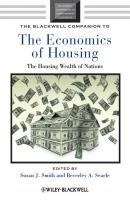The Blackwell Companion to the Economics of Housing. The Housing Wealth of Nations - Smith Susan J.