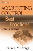 Accounting Control Best Practices - Steven Bragg M.
