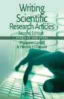 Writing Scientific Research Articles. Strategy and Steps - O'Connor Patrick