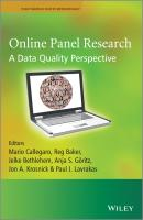 Online Panel Research. A Data Quality Perspective - Jelke  Bethlehem
